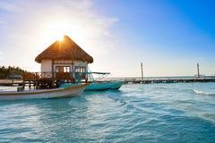 Holbox tropical Island in Quintana Roo Mexico Stock Photos