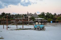 Holbox yukatan Mexiko royaltyfria foton