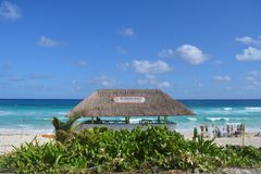 Holbox yukatan Mexiko royaltyfri foto