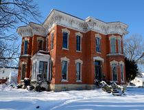 Holcomb dom w śniegu Fotografia Stock