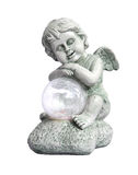 Hold the ball angel sculpture. Ornament Stock Photography
