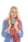 Hold blue mug Stock Image