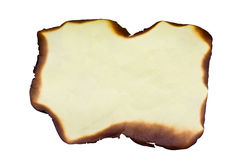 Hold Burn Paper with Clipping path Royalty Free Stock Image