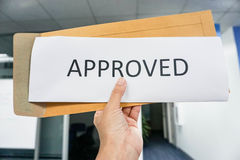 Hold business icon of approve Stock Image