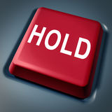 Hold Button investment stock decision market Royalty Free Stock Photos