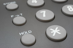 Hold button (phone keyboard) Stock Photography