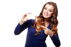 Hold card Stock Image