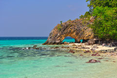 Hold cave on beach at Koh Lipe Royalty Free Stock Photography