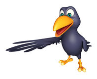 Hold  Crow cartoon character Stock Image