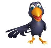 Hold  Crow cartoon character Royalty Free Stock Photos