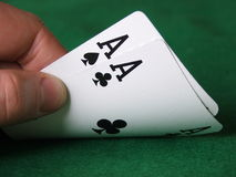 Hold'em: Pocket Rockets royalty free stock photo