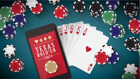 Hold'em poker banner Stock Photo