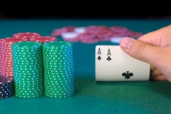 Hold'em Poker Pocket Aces Royalty Free Stock Image