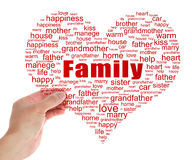 Hold Family Tag Cloud Royalty Free Stock Image