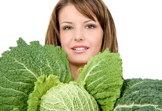 Hold on fresh kale Royalty Free Stock Image