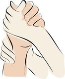 Hold hand and palliative care Royalty Free Stock Photo