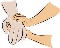 Hold hand with palliative care Stock Photography