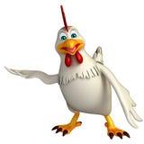 Hold  Hen cartoon character Stock Photos