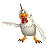 Hold  Hen cartoon character Royalty Free Stock Photography