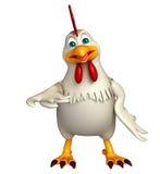 Hold  Hen cartoon character Stock Image