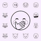 hold a laugh icon. Emoji icons universal set for web and mobile royalty free illustration