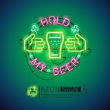 Hold My Beer Neon Sign Colorful Royalty Free Stock Images