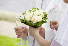 Hold my bouquet, please! Stock Image