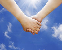 Hold my hand royalty free stock photo
