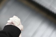 Big hand holding little hand Royalty Free Stock Photo