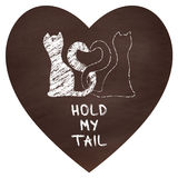 Hold my tail. Cats. Royalty Free Stock Photos