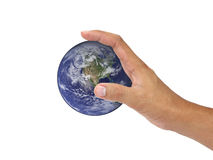 Hold our world - Elements of this image furnished by NASA Royalty Free Stock Photo