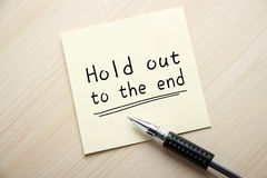 Hold out to the end Royalty Free Stock Photo