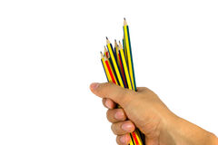 Hold pencil Royalty Free Stock Photos