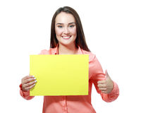 Hold sign card Royalty Free Stock Photos