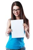 Hold sign card Stock Photography