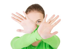 Hold on, Stop gesture Royalty Free Stock Image