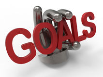 Hold tight to your goals concept Stock Photography