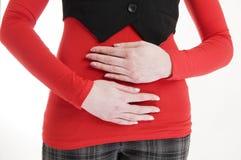 Hold the tummy near Stock Image