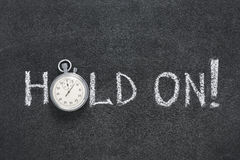 Hold on watch Stock Image