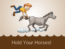 Hold your horses Royalty Free Stock Photography