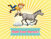 Hold your horses Stock Image