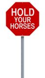 Hold Your Horses Stock Photo