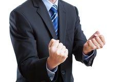 Большие пальцы руки holded для удачи Стоковые Фото