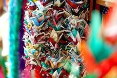 Holded paper crane Royalty Free Stock Images