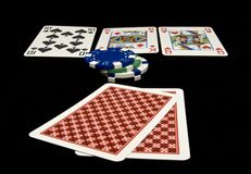 Holdem cards on the table Royalty Free Stock Images