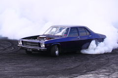 Holden with 454 big block V8 doing  a burnout Royalty Free Stock Images