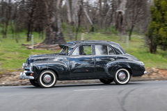 1954 Holden FJ Sedan driving on country road Royalty Free Stock Photography