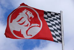 Holden Flag. The majestic Holden lion blowing in the wind at the Holden Vehicle stand. Adelaide Clipsal 500 V8 supercars series Stock Photography