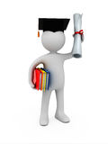 Holder of a master's degree Stock Photo
