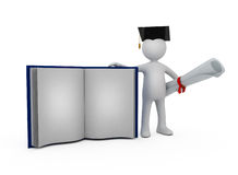 Holder of a master's degree Stock Image